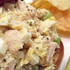 Tuna salad his is just an old-fashioned tuna egg sandwich that is simple and quick to make! My grandparents make these and tell me that this is the 'correct' way to make a hearty sandwich! Egg Sandwiches, Sandwich Recipes, Egg Recipes, Salad Recipes, Cooking Recipes, Salad Sandwich, Healthy Chicken Recipes, Easy Healthy Recipes, Healthy Snacks