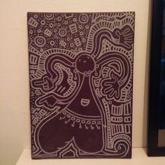 """""""Hip-Hop Girl"""" #acrylic #paint and #Posca on #canvas   #art #artcraft #cartoon #hiphop #Instagram"""