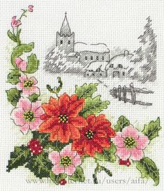 Very Crafty - Cross stitch kits & charts, tapestry and embroidery kits at discounted prices Cross Stitch House, Cross Stitch Needles, Cross Stitch Samplers, Cross Stitch Kits, Cross Stitching, Cross Stitch Patterns, Cross Stitch Embroidery, Embroidery Patterns, Cross Stitch Landscape