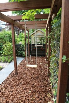 Best And Fun DIY Backyard Playground Landscaping Ideas - Page 17 of 30 Small Backyard Gardens, Small Backyard Landscaping, Backyard Garden Design, Backyard For Kids, Outdoor Gardens, Landscaping Ideas, Pergola Ideas, Pergola Kits, Backyard Privacy