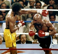 The recent grudge match between Julio Cesar Chavez JR and Sergio Martinez produced, arguably, one of the greatest final rounds in boxing history. Larry Holmes, Mgm Grand Garden Arena, Magic Johnson, Las Vegas, Sports Illustrated, Marvelous Marvin Hagler, Boxing Images, Grudge Match, World Boxing