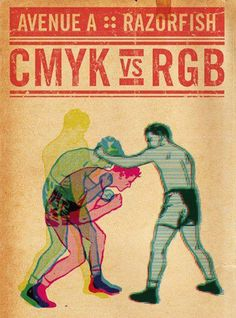Digital #illustration CMYK vs RGB