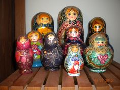 A small portion of my matryoshka collection
