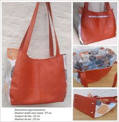 Tuto couture PDF patron et explications du sac Victor DIY - Women's Handbags Diy Sac, Couture Sewing, Diy Couture, Fabric, Handmade, Vide Poche, Women's Handbags, Crochet Bags, Chiffon