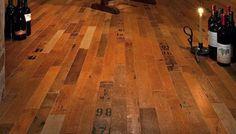 Vintage Wine Barrel Flooring