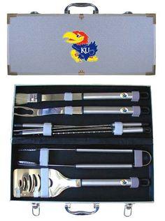 Jayhawk grill set.