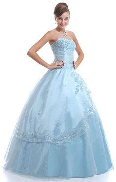 FairOnly Formal Evening Quinceanera Dress Prom Gown Stock Size:6 8 10 12 14 16