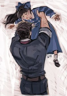 Father and daughter. :) Bioshock Infinite Elizabeth and Booker