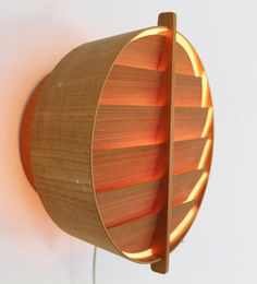 Hans-Agne Jakobsson; Plywood and Wood Veneer Wall Light, 1960s.