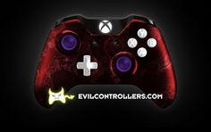 XboxOneController-RedZombieHazard   Flickr - Photo Sharing! #XboxOneController #Xbox1Controller #CustomXboxOneController #ModdedXboxOneController #CustomController #moddedcontroller