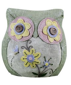 Do - as a door stopper? --- Love this Floral Owl Figurine by Young's on #zulily! #zulilyfinds