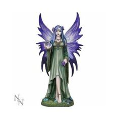 Gothic Anne Stokes Figurine Mystic Aura Fairy Nemesis Now    Consider decorating with purple accents if you love the look of purple home decor. It does not matter if you like violet, lavender, lilac, amethyst or more of a muave purple. Rest assured you will find your perfectly purple paradise.     I love the look of purple modern wall art, purple accent pillows and trendy purple decorative accents to spread all over my home.  This works well with my ultra modern home decor scheme however I…