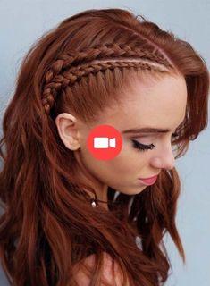40 Łatwy i kreatywny Spadek Fryzura, Hair Trend em 2020 Natural Afro Hairstyles, Braided Hairstyles For Black Women, Braided Hairstyles Tutorials, Easy Hairstyles, Viking Braids, Viking Hair, Short Hair Styles Easy, Braids For Short Hair, Red Hair Inspo