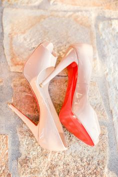 Pink Patent Christian Louboutins #weddingshoes
