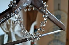 Crochet Necklace with Crystals Boho Chic di Bornin82 su Etsy