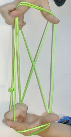 Play with your kids with only the string How to Do Cat's Cradle instructions step-by-step