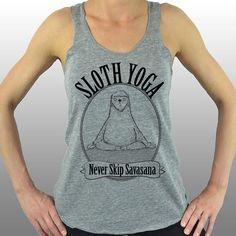Faultier Yoga nie überspringen Savasana. Yoga von CuteBuffy auf Etsy
