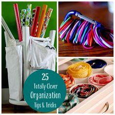 25 Clever Organization Tips & Tricks
