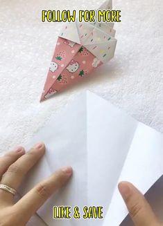Diy Crafts For Girls, Diy Crafts Hacks, Easy Diy Crafts, Hobbies And Crafts, Diy Projects, Instruções Origami, Paper Crafts Origami, Diy Paper, Bottle Crafts