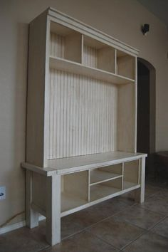 I'm totally in love with this Media Console from Ana White Homemaker - I'd love to have this is our new downstairs den