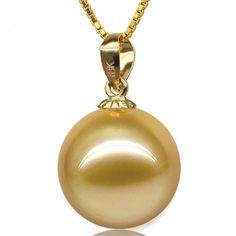 AAAA SNH Perlen Anhänger 18 K Gold, 10-13,50 mm, Preis: €239.00 bei ePerlen.ch