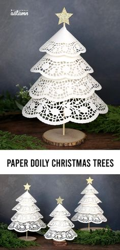 Christmas Tree Paper Craft, Christmas Tree Base, Homemade Christmas Tree, Inexpensive Christmas Gifts, Christmas Crafts For Adults, Dollar Store Christmas, Diy Christmas Ornaments, Christmas Grotto Ideas, Holiday Crafts