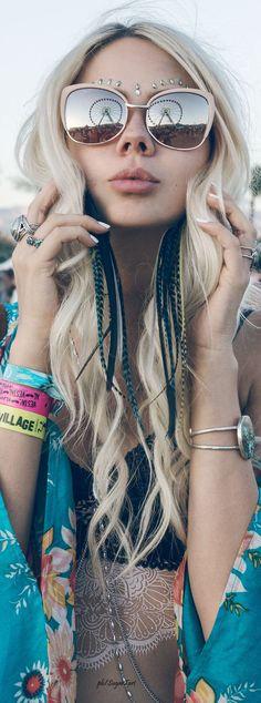 ╰☆╮Boho chic bohemian boho style hippy hippie chic bohème vibe gypsy fashion indie folk the . Hippie Chic, Hippie Mode, Mode Boho, Gypsy Style, Boho Gypsy, Hippie Style, Bohemian Style, Boho Chic, Coachella Festival