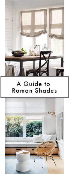 How to choose roman shades! From style to fabric choice.
