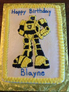 Bumblebee transformers cake