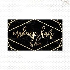 Makeup Artist & Hair Salon Geometric Black & Gold Business CardYou can find Black makeup artist and more on our website. Salon Business Cards, Gold Business Card, Hairstylist Business Cards, Makeup Artist Business Cards, Business Logo, Black Makeup Artist, Burgundy Makeup, Makeup Salon, Diy Makeup
