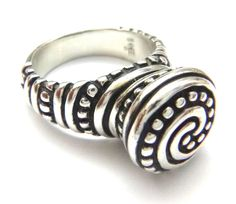 James Avery African Bead Ring, Retired Sterling Silver Size 5.5 w/Orig. JA Box #JamesAvery