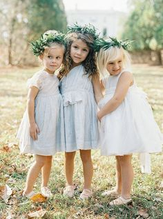The sweetest flower girl dresses by Nelly Stella from Wren Bridal.