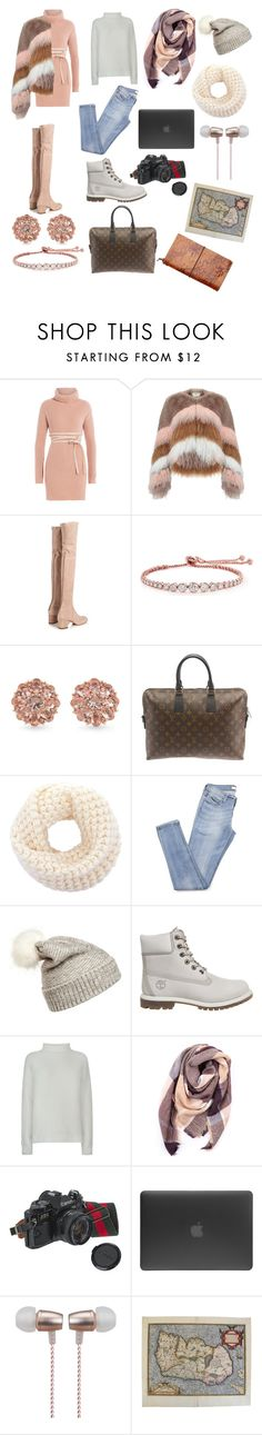 """Travel In style"" by cokocoko on Polyvore featuring Valentino, Urbancode, CARAT* London, Carolee, Louis Vuitton, WithChic, Timberland, Vince, Everest and American Eagle Outfitters"