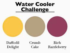 Stampin Along With Heidi: WCC05 -- A Colour Challenge-Daffodil Delight, Crumb Cake, Rich Razzleberry
