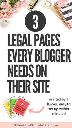 In this article, a lawyer and blogger breaks down the essential parts of every legal page that you need for your website. Protect your blog legally and set up your privacy policy, terms and conditions, and disclaimer today. #legal #blogging #blogtips
