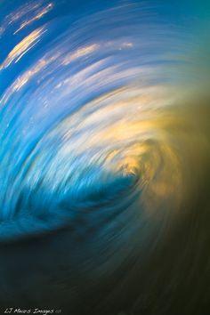 'Painted Surf'  Slow shutter surf shot.