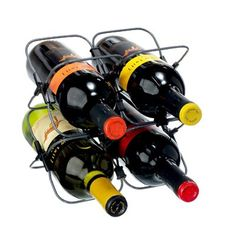 $22.77-$15.50 Features an ingeniously expandable design made of hi tech materials that unfolds to create a 4 bottle wine rack. Includes 8 add on clips that allow for rack expansion of up to 64 bottle storage. Wine bottle not included.