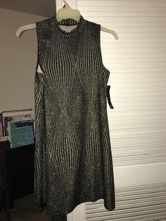 Black and metallic gold geometric dress. Size 14. NWT. From Modcloth.