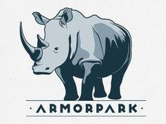 Rhino logo by Karine Jaffrelot.