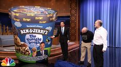 Jimmy gets some help from Ben Cohen and Jerry Greenfield to reveal The Tonight Show's very own ice cream flavor. Subscribe NOW to The Tonight Show Starring J...