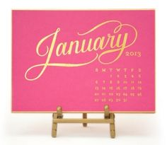 kate desk calendar - Great Type and YUM Pink!