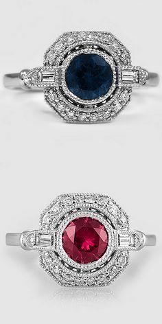 Sapphire Ostara Diamond Rings