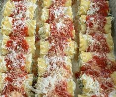 Lasagna Party Rolls with Red and White Sauce - Proud Italian Cook Italian Dishes, Italian Recipes, Italian Entrees, Italian Foods, Cheese Lasagna, Homemade Marinara, Lasagna Rolls, No Noodle Lasagna, White Sauce
