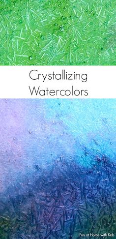 Fun At Home With kids homemade paint recipe crystallizing watercolors