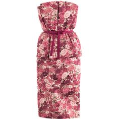 Giambattista Valli Couture Carnation-print bustier dress ($6,405) ❤ liked on Polyvore