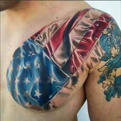 America's Tattoo #InkedMagazine #tattoo #tattoos #Inked #Ink #art #flag #America #American