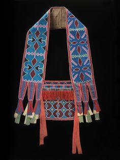 Source: Oklahoma Delaware, Shoulder bag/bandolier bag, circa 1850.