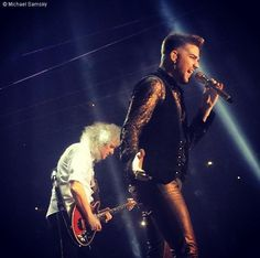 Brian May and Adam Lambert July 2014