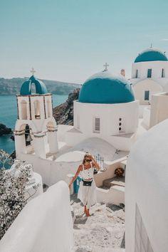 Santorini, Greece @ohhcouture Outfit - Bally bag, Staud top, Mango pants, Marni sunglasses by ohhcouture, Leonie Hanne #luxurydotcom