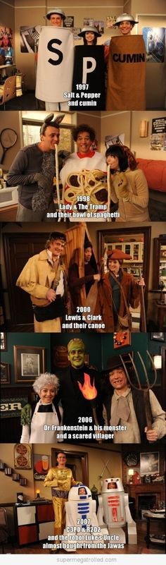 #Third Wheel Costumes- How I Met Your Mother @Angela Gray Gray Gray Gray Castillo I'm so doing this next year with you and Gerson!!!!! lmao!!!!! Like, comment and share it!